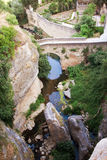 Old bridge in town of Ronda in Andalusia, Spain Stock Images