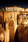 Old bridge in town of Ronda in Andalusia, Spain Royalty Free Stock Images
