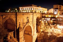 Old bridge in town of Ronda in Andalusia, Spain Stock Photo