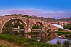 Old bridge in Trebinje - Bosnia and Herzegovina Stock Image