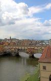 Old bridge Vasari Corridor in Florence Italy from Uffizi Museum Stock Photo