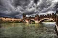 Old bridge. In Verona, Italy Royalty Free Stock Image