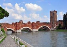 Old bridge of Verona Stock Image
