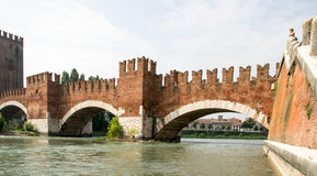 Old bridge in Verona Royalty Free Stock Photos