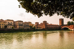 Old bridge verona Royalty Free Stock Image