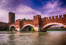 Old bridge verona Royalty Free Stock Images