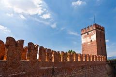 Old bridge in Verona over Adige river - Castelvecchio Stock Photo