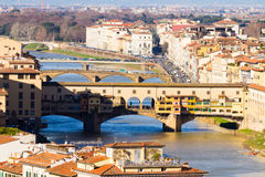 Old Bridge view, Florence, Italy Stock Image