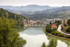 Old bridge Visegrad, Bosnia and Herzegovina. Photo of Old bridge Visegrad, Bosnia and Herzegovina Stock Photo