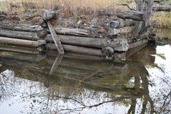 Old bridge. And water autumn Stock Photo