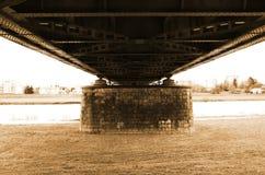Old bridge in Zagreb stock images