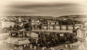 Old bridges of Prague Stock Photos