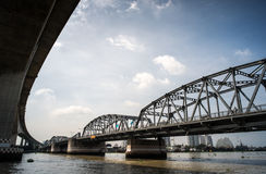 Old Brige in Bangkok Royalty Free Stock Photo