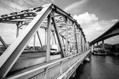 Old Brige in Bangkok Royalty Free Stock Photos