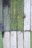 Old bright painted shabby fence. Royalty Free Stock Photos