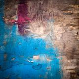 Old bright painted wooden surface Royalty Free Stock Photography