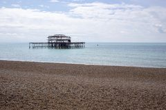 Old Brightion Pier - Brighton, England Royalty Free Stock Images