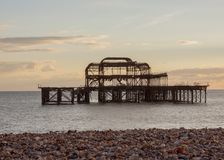 Old Brightion Pier Stock Images