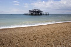 Old Brightion Pier - Brighton, England Royalty Free Stock Photos