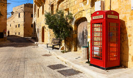 Old britisch telephone cell in Birbuba on Malta Royalty Free Stock Images