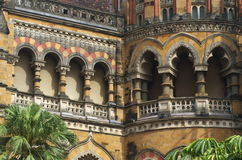 Old British Architecture at Victoria Terminus-II Royalty Free Stock Images