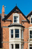 Old british building. Close-up of a typical british residential building Stock Photography