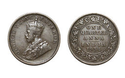 Old British Coin Stock Image