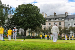 The old British croquet game Royalty Free Stock Photography