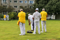 The old British croquet game Stock Photos