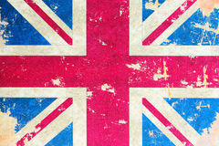 Old british flag. Close-up of old british flag stock photo