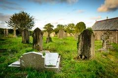 Old British graveyard - Mabe, Cornwall Stock Image