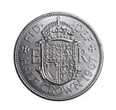Old British half crown coin Royalty Free Stock Image