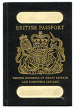 Old British Passport Stock Photo