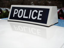 Old British Police Car Roof Sign Stock Photo
