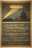 Old British propaganda from the first World War royalty free stock photography