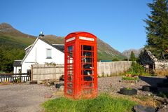 Old, British, red phonebox Stock Photography