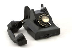 Old British Telephone. An old British telephone off the hook stock photography