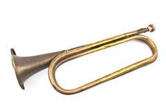 Old broken army trumpet Royalty Free Stock Photos