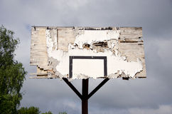 Old broken basketball backboard Stock Photos