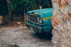 Old Doodge car in Mexic royalty free stock image