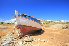 Old broken boat Royalty Free Stock Images