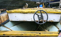 Old and broken boat in repair Royalty Free Stock Images