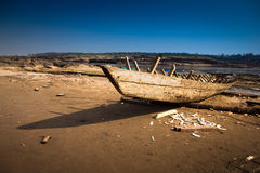 Old broken boat Stock Photography