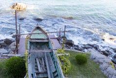 Old broken boat in Sozopol Royalty Free Stock Images