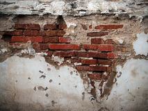 Old Broken Brick Wall Royalty Free Stock Images