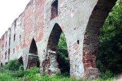 Old broken brick wall outdoor Stock Images