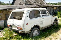 Old broken car Stock Photo