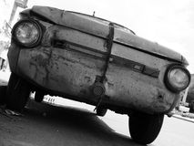 Old broken car. Old car royalty free stock images