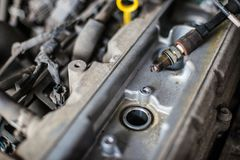 Free Old Broken Car Spark Plugs Stock Photography - 122044962
