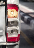 Old broken car taillight Stock Images